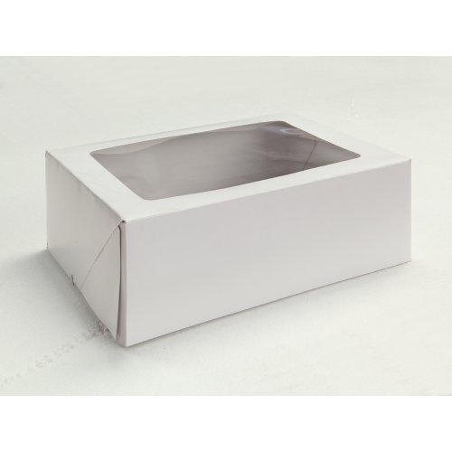 White w/Window Plain - 9x9x5