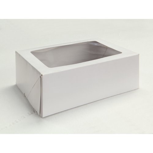 White w/Window Plain - 1/4 Sheet