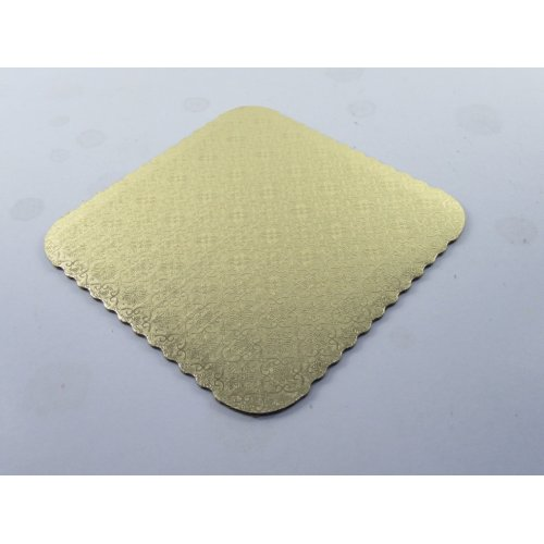 Square C-Flute Gold Scalloped Pads - 12""