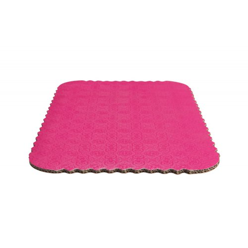 D/W Pink Scalloped Cake Pads - 1/2 sheet