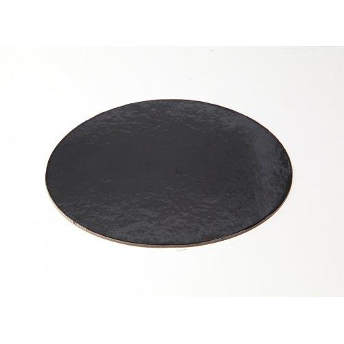 """Black Die Cut Cake Circles - 10"""""""