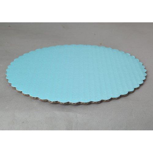 C-Flute T- Blue Scalloped Cake Circles