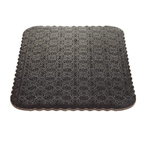 D/W Black Scalloped Cake Pads - 1/4 sheet