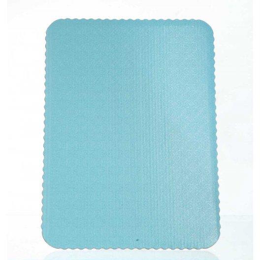 D/W T-Blue Scalloped Cake Pads - 1/4 sheet