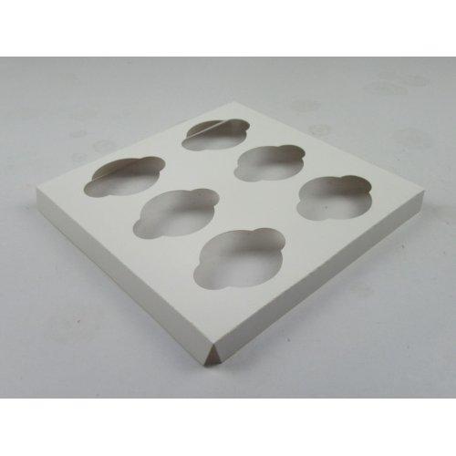 10X10 Cupcake Insert White  - 6 Reg Cup