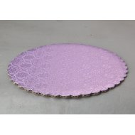 C-Flute Lilac Scalloped Cake Circles  - 12""