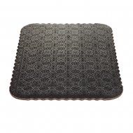 D/W Black Scalloped Cake Pads - 1/4 sheet