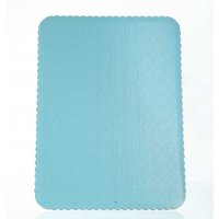 D/W T-Blue Scalloped Cake Pads - 1/4 sheet