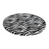 "Zebra Print Round Drums B/C-Flute - 8"""